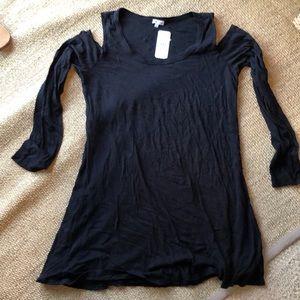 Splendid L/S cold Shoulder Dress sz XL